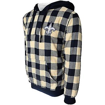 New Orleans Saints Sherpa Flannel Half Zip Hoody