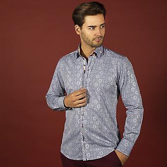 CLAUDIO LUGLI Mens Jacquard Shirt With Buckle Details