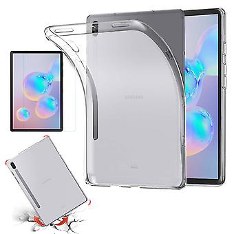 For Samsung Galaxy Tab s6 10,5 T860 T865 transparent veske deksel + H9 hardt glass