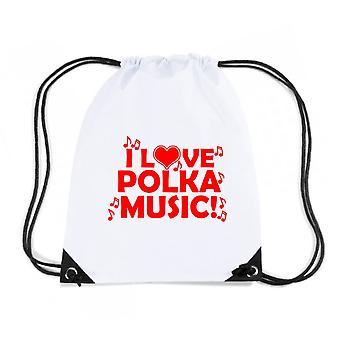 Zainetto bianco gen0349 polka music