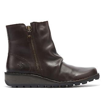 Fly London Mon Womens Dark Brown Leather Boots