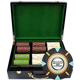 500ct claysmith Gaming ' menta ' chip set în Hi Gloss
