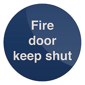 Fire Door Keep Shut Sign - 100x100mm Rigid