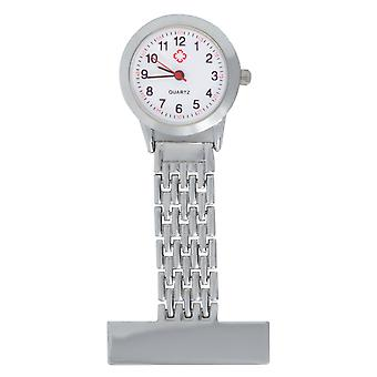 TRIXES Nurse Stainless Steel Quartz Silver Fob Watch