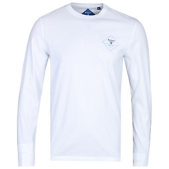 Barbour Beacon Long Sleeve White Logo T-Shirt