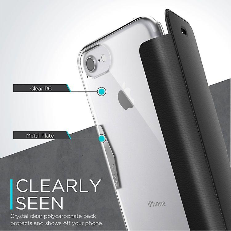 x-doria Engage Series Folio Cover Fashion Case for Apple iPhone 8 7 black