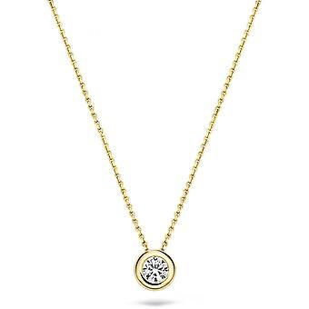 Blush 30529YZI necklace - Yellow gold 42cm/ zirconium oxide 4/8 mm set closed gold yellow Women