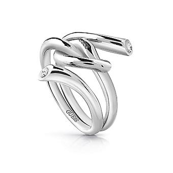 Guess Jewellery Wrapped Knot Ring Silver Ring UBR29000