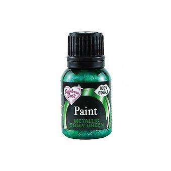 Pintura metálica do alimento da poeira do arco-íris 25ml - verde do azevinho