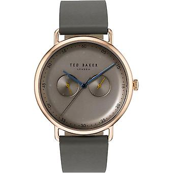 Ted Baker George Quartz Brown Dial Grey Leather Strap Mens Watch TE50520002