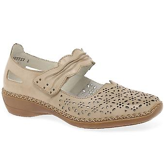 Rieker Dollar Womens Punched Detail Mary Jane Shoes