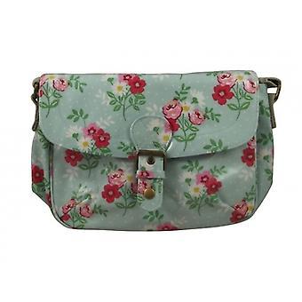 Gisela Graham Pretty Floral Pvc Ladies Satchel Bag