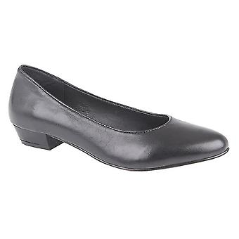 Mod Comfys Womens/dames lederen Hof schoenen