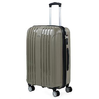 Medium Suitcase For Rigid Travel With Double Wheels Made of High Resistance Polypropylene From the Itaca Brand