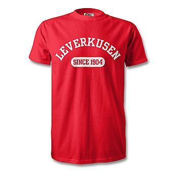 Bayer Leverkusen 1904 establecidas fútbol t-shirt