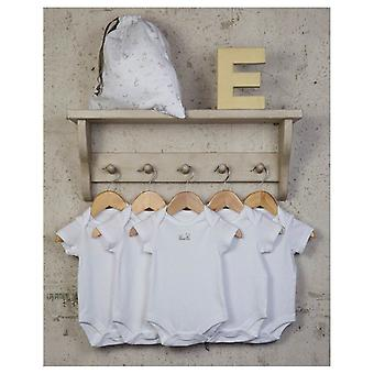 The Essential One Baby Unisex Essential White Bodysuits - 5 Pack