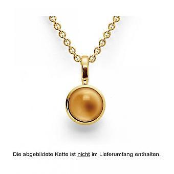 bastian inverun - 925/- silver pendant gold plated, polished, citrine 1,61ct - 24750