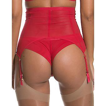 Gossard 17102 Mujeres's VIP Guipure Lápiz Labial Rojo Encaje Bordado Suspender Cinturón