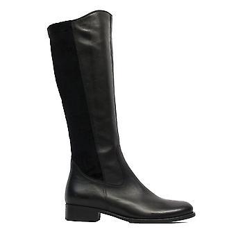Gabor 644-29 Schwarz Leder Damen Lange Bein Stiefel