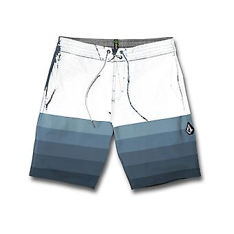 Volcom Quarta Static Stoney Mid Length Boardshorts in Bering Sea