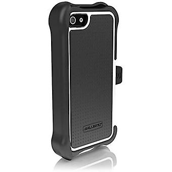 Ballistic Shell Gel Maxx Holster Case for Apple iPhone 5/5s - Black/White