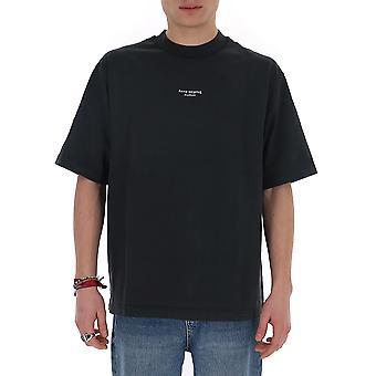 Acne Studios Bl0156black Men's Black Cotton T-shirt