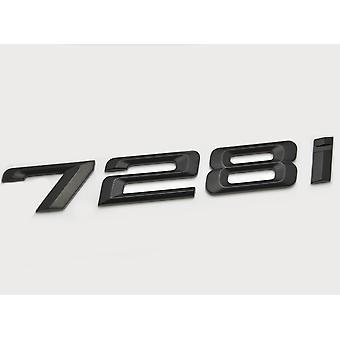 Matt Negro BMW 728i coche modelo de arranque trasero número carta etiqueta etiqueta etiqueta insignia emblema para 7 Series E38 E65 E66E67 E68 F01 F02 F03 F04 G11 G12