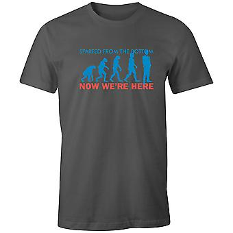 Boys Short Sleeve Men's Crew T Shirt- Started From The Bottom, Now We're Here