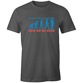 Pojat Lyhythihainen Miesten & Crew T-paita-alkoi pohjasta, nyt me'
