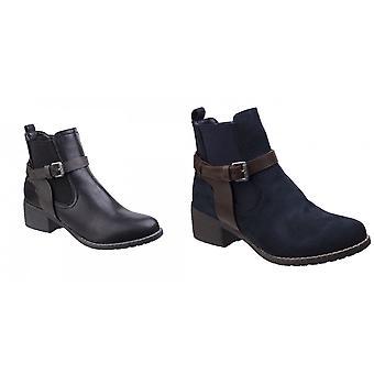 Divaz mujeres/señoras Ivana bloque botas talón del tobillo