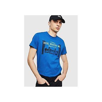 Diesel T-diego-s13 Graphic Logo Blue T-shirt