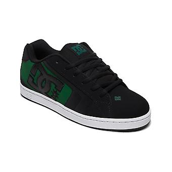 DC Net Trainers in Black/Black/Green
