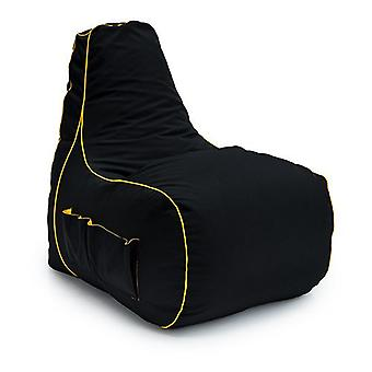 Game Over Scorpion Chain Gaming Bean Bag Chair | Sala de Estar Interior | Bolsos laterais para controladores | Suporte para fones de ouvido | Design ergonômico para o Gamer Dedicado