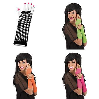 Bristol Novelty Unisex Adults Fingerless Fishnet Gloves (1 Pair)