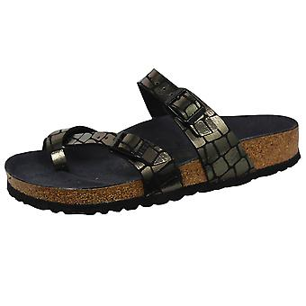 Birkenstock mayari women's gator gleam black sandals