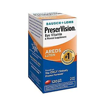 Bausch & lomb preservision eye vitamin, areds lutein, softgels, 120 ea