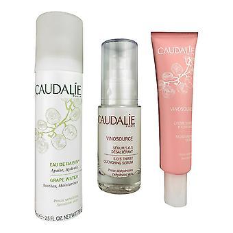 Caudalie moisturizing facial 3 piece set hydrates the skin