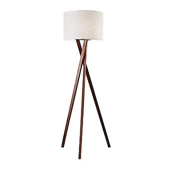 Floor Lamp with Walnut Wood Tripod Leg