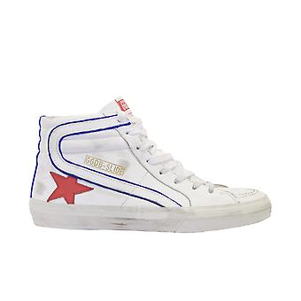 Golden Goose G36ms595b15 Men's White Leather Hi Top Sneakers