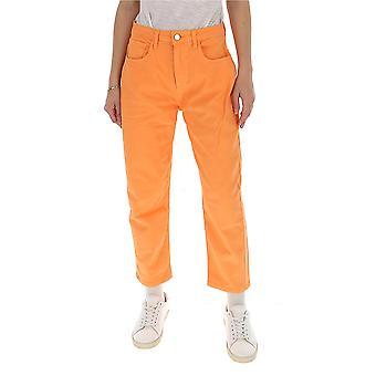 Ireneisgood Igcdp001812 Femmes-apos;s Orange Cotton Jeans