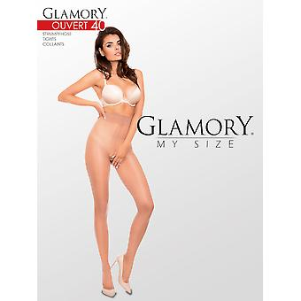 Glamory Ouvert 40 Crotchless Tights Plus Size up to 4XL