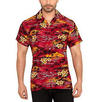 Club cubana men's regular fit classic short sleeve casual shirt ccc105