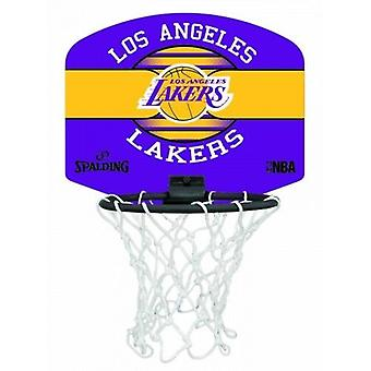 Spalding Los Angeles Lakers NBA Miniboard Basketball Ring - Net & Ball Set
