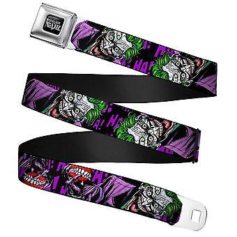 DC Comics Joker Forever Evil Webbing Cinturón de hebilla del cinturón de hebilla