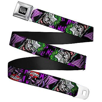 DC Comics Joker Forever Evil Webbing Seatbelt Buckle Belt