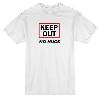 Следите не обнимает графический Мужская футболка