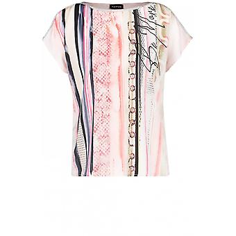 Taifun Pink Patterned Stripe Top