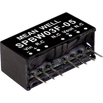 يعني جيدا SPBW03G-15 DC / DC محول (وحدة) 200 mA 3 W لا. من النواتج: 1 x