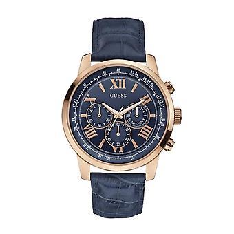 Guess W0380G5 Chronograph Quartz with Imitation Leather Bracelet Men's Watch