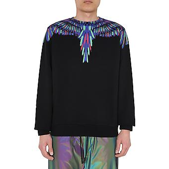 Marcelo Burlon Cmba009e20fle041050 Men's Black Cotton Sweatshirt